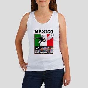 Mexico World Soccer Fútbol Women's Tank Top
