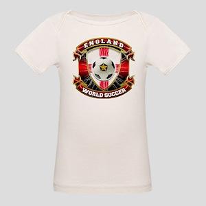England Soccer Power Organic Baby T-Shirt