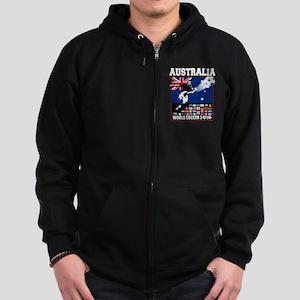 Australia World Soccer Goal Zip Hoodie (dark)