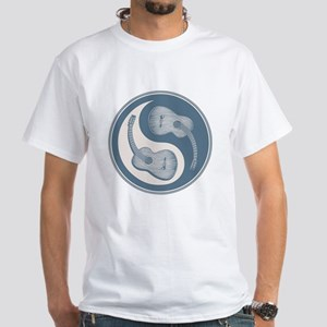 Yin-Yang Guitars IV White T-Shirt