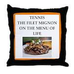 Tennis joke Throw Pillow