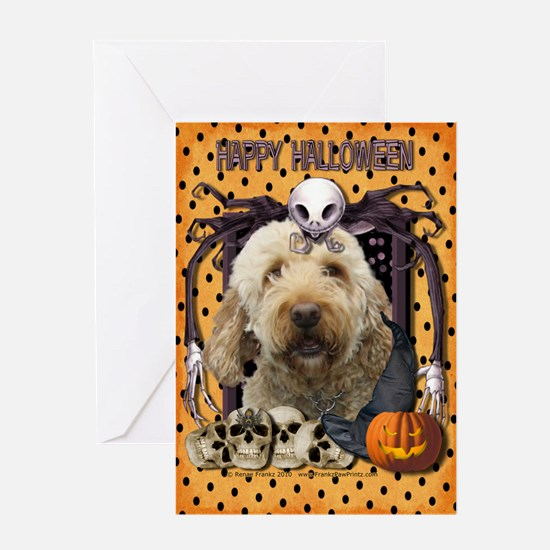 Halloween Nightmare Doodle Greeting Card