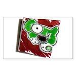 Dog Pin Sticker (Rectangle)