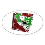 Dog Pin Sticker (Oval 10 pk)
