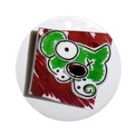 Dog Pin Ornament (Round)