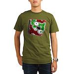 Dog Pin Organic Men's T-Shirt (dark)
