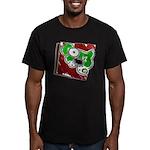 Dog Pin Men's Fitted T-Shirt (dark)
