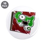 """Dog Pin 3.5"""" Button (10 pack)"""