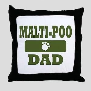 Malti-Poo Dad Throw Pillow