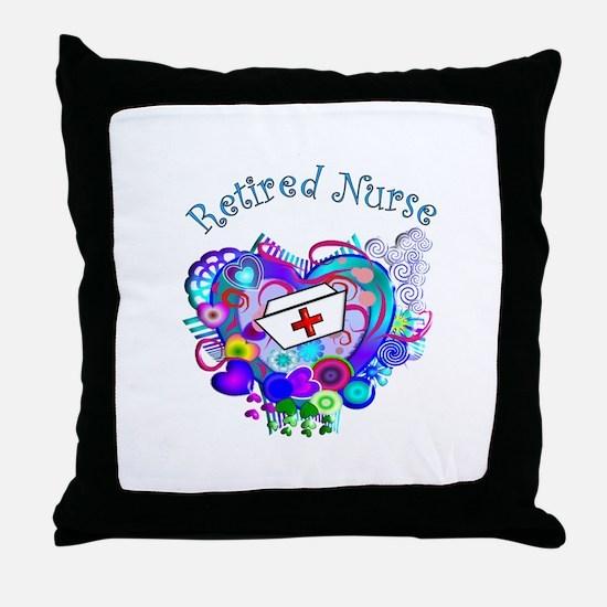 Retired Nurse Throw Pillow