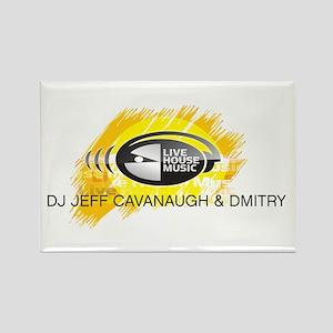 DJ Jeff Cavanaugh & Dmitry Rectangle Magnet