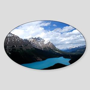 Brilliant Blue Lake Sticker (Oval)
