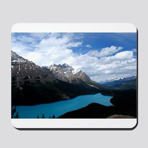 Brilliant Blue Lake Mousepad