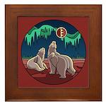 Polar Bear Framed Tile Arctic Art Framed Tile