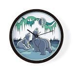 Polar Bear Art Wall Clock Arctic Art Gifts