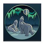 Polar Bear Coasters Arctic Art Tile Coaster