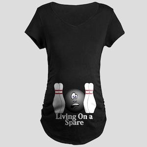 Living On A Spare Logo 4 Maternity Dark T-Shirt De