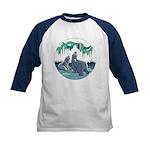 Arctic Art Kids Baseball Jersey Poalr Bear Shirt