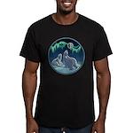 Arctic Art Men's Fitted Polar Bear T-Shirt (dark)