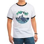 Arctic Art Ringer T-shirt Polar Bear Shirts