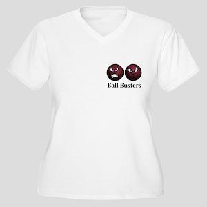 Ball Busters Logo 11 Women's Plus Size V-Neck T-Sh