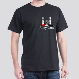 Alley Cats Logo 15 Dark T-Shirt Design Front Pocke