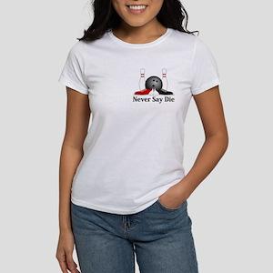 Never Say Die Logo 15 Women's T-Shirt Design Front