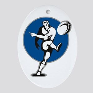 Rugby 2011 Ornament (Oval)
