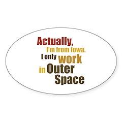 I'm From Iowa Sticker (Oval 50 pk)