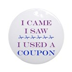 Coupon Ornament (Round)