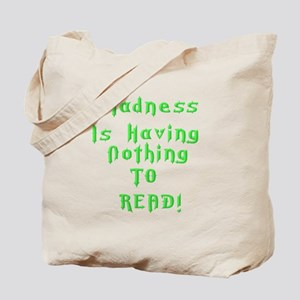 Reading Madness Gifts Tote Bag