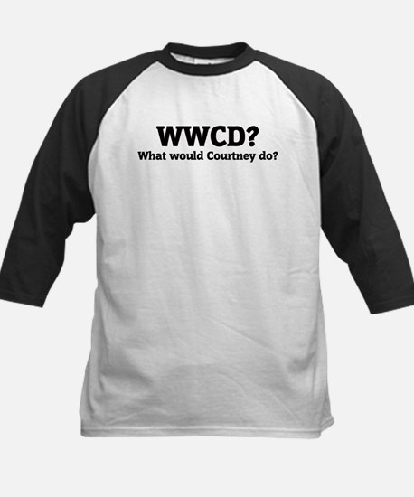 What would Courtney do? Kids Baseball Jersey