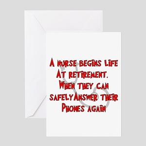 nurse retirement greeting cards cafepress