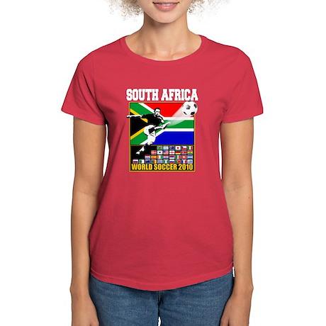South Africa World Soccer Women's Dark T-Shirt