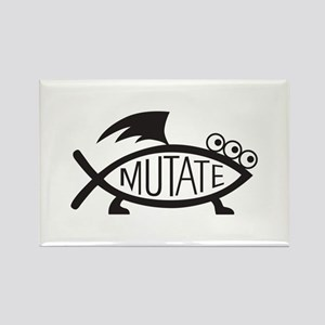 Mutate Fish Rectangle Magnet