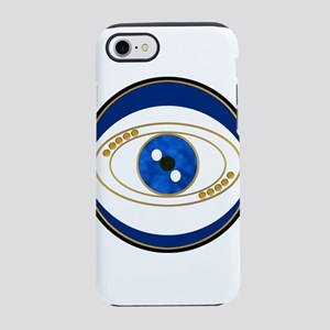 Blue evil eye with gold accent iPhone 7 Tough Case