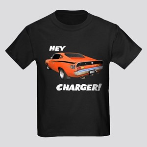 Aussie Charger - Hey, Charger! Kids Dark T-Shirt