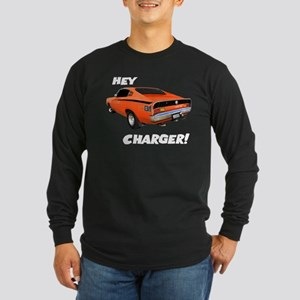 Aussie Charger - Hey, Charger! Long Sleeve Dark T-