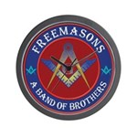 Freemasons. A Band of Brothers Wall Clock