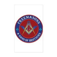 Freemasons. A Band of Brothers Sticker (Rectangle)