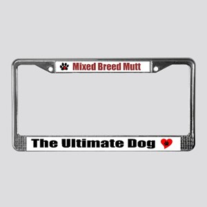 Mixed Breed Mutt License Plate Frame