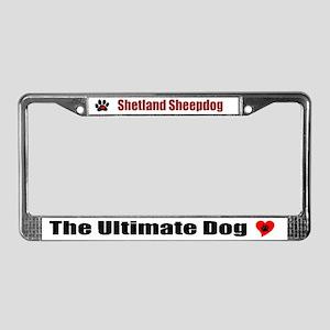 Sheltie License Plate Frame