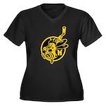The Dark Side Women's Plus Size V-Neck Dark T-Shir
