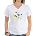 Jack Russell Happy Halloween Women's V-Neck T-Shir