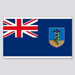 Montserrat Flag Rectangle Sticker