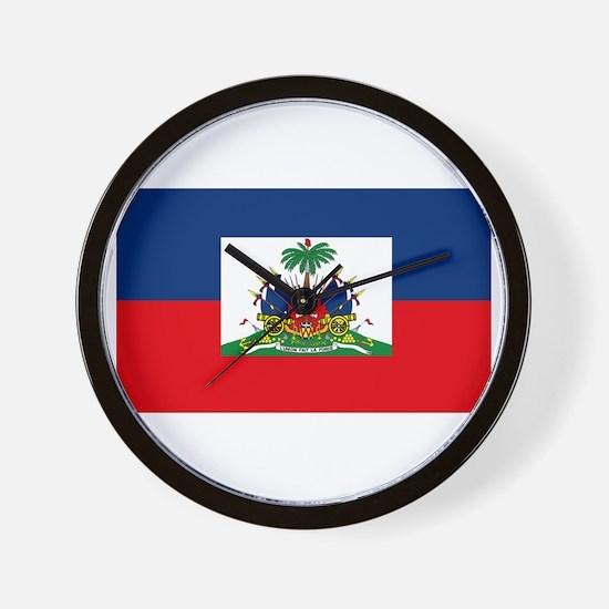 Haiti Flag Wall Clock