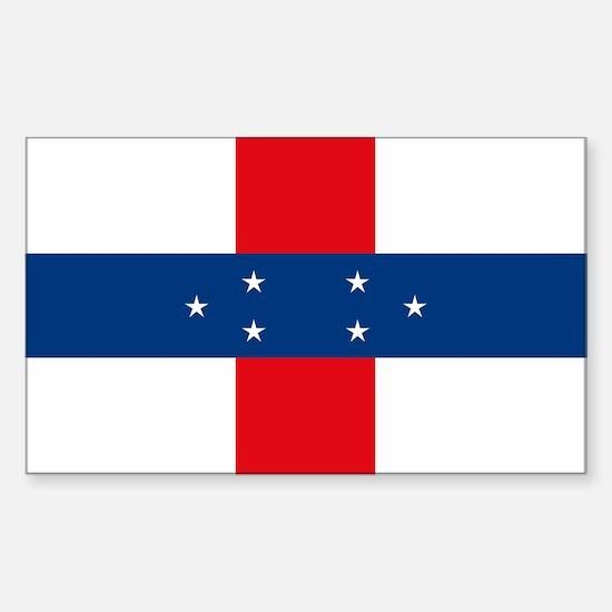 Netherland Antilles Flag Rectangle Decal
