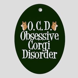 Corgi Obsessed Ornament (Oval)
