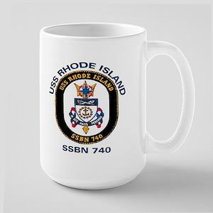 USS Rhode Island SSBN 740 Large Mug