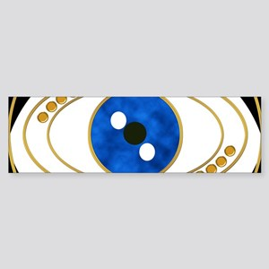 Black Evil Eye with Golden Accents Bumper Sticker
